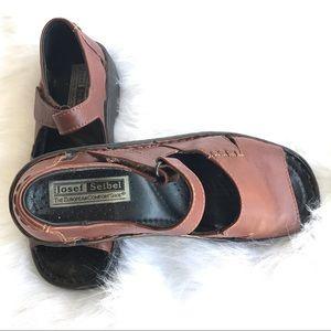 Josef Seibel European leather brown sandals US 7